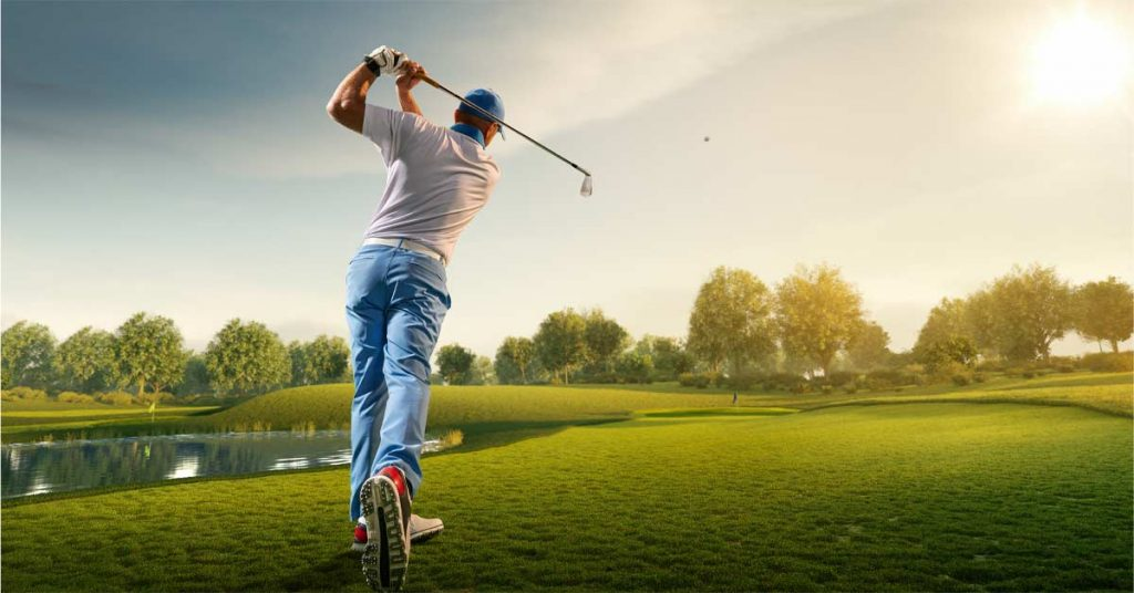 ゴルフのコツゴルフをする